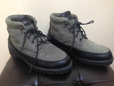 FUBU Top Quality SLATE GREY Suede Black Leather Hiking Boots 7.5 Worn Once RARE