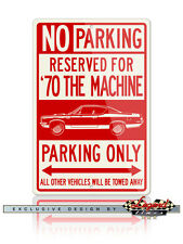 AMC Rebel The Machine Stripes 1970 Reserved Parking Sign 12x18 Aluminum Sign