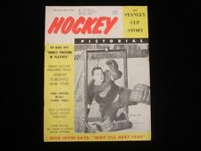 April 1956 Hockey Pictorial Magazine Glenn Hall Red Wings Cover VG