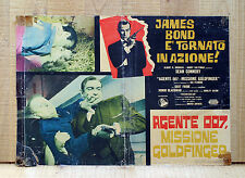 AGENTE 007, MISSIONE GOLDFINGER fotobusta poster Sean Connery James Bond 1964