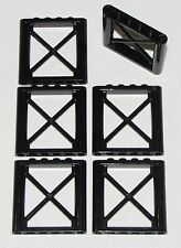 LEGO LOT OF 6 NEW BLACK 1 X 6 X 5 GIRDER SUPPORTS CITY TOWN HOME BUILDING PARTS