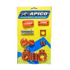 KTM HUSABERG HUSQVARNA 2T  APICO BLING PACK ORANGE INC STEERING NUT AXLE BLOCKS
