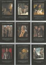 "Game of Thrones Season 6 - ""Quotable"" 9 Card Chase Set #Q51-59"
