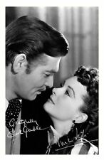GONE WITH THE WIND - CLARK GABLE & VIVIEN LEIGH SIGNED A4 PP POSTER PHOTO