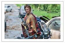 NORMAN REEDUS THE WALKING DEAD AUTOGRAPH SIGNED PHOTO PRINT SEASON 1 2 3 4 5