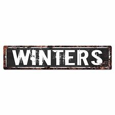SLND0712 WINTERS Street Chic Sign Home man cave Decor Gift Ideas