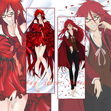 Black Butler Grell Sutcliff Dakimakura Otaku Hugging Body Pillow Case Cover