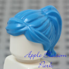 NEW Lego Female Dark AZURE MINIFIG HAIR Short Blue Agent Girl Ponytail Head Gear