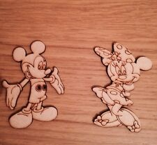 Micky Mouse And Minnie Wooden Decoration Mdf Blanks