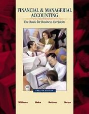 Financial and Managerial Accounting: A Basis for Business Decisions-ExLibrary
