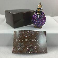 Jay Strongwater PENGUIN Purple Coat Christmas Ornament Small Neiman Marcus GWP