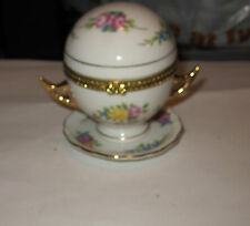 RETIRED EB PORCELAIN TRINKET BOX--VICTORIAN DOME TUREEN W/ MILLEFLEUR