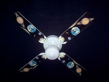 "OUTER SPACE Ceiling Fan w/Light 42"" NEW! PLANET Moon"
