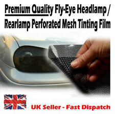 2m x 106cm Black Fly-Eye Road Legal Mesh Tinting Film Head / Rear Light Lamp