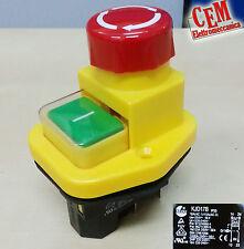 Interruttore kedu kjd17B Fungo Pulsante di Emergenza sicurezza KJD 17 IP55 230 V