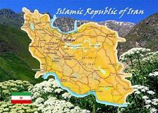 Iran Country Map New Postcard