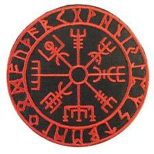 vegvisir viking compass embroidered morale tactical icelandic sew iron on patch