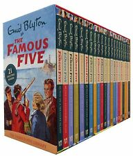 Enid Blyton Famous Five Series 21 Books Set Collection Pack (1 To 21) NEW