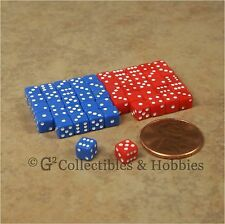 NEW 5mm 50 Blue Red Mini Six Sided Dice Set RPG Game Miniature 3/16 inch Tiny D6