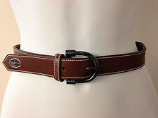 Authentic Vtg Gucci Brown Leather Belt Size XS