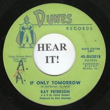 Ray Peterson TEEN 45 (Dunes 2018 PROMO) You Didn't Care/If Only Tomorrow  VG/VG+