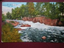 POSTCARD USA WISCONSIN C1940 BIG SMOKY FALLS MENOMINEE INDIAN RESERVATION