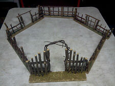 Vintage Old Wood - Christmas Tree Feather Fencing with Main Gate and Side Gates!