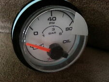 FARIA BACK MOUNT MARINE BOAT 80 PSI/5 BAR OIL GAGE GAUGE WHITE FACE GP7017 NEW