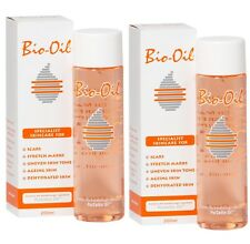 BIO OIL 200ml FOR SCARS, STRETCH MARKS & SKIN CARE X 2