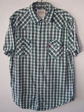 Vintage Levi's Two Horse Brand Pearl Snap Western Shirt Lg