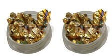 2 x 3g pots nail art foil leaf flakes old gold pot and for nails decoration