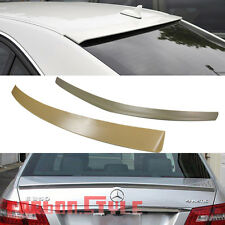 Unpainted COMBO For Mercedes Benz W212 4D E550 OE Rear Roof +AMG Trunk Spoiler