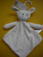 TESCO F&F CREAM BUNNY RABBIT COMFORTER BLANKIE SOFT HUG TOY