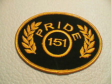 PRESTON PRIDE 151 LINE TRACTOR TRAILER SEMI TRUCK DRIVER BLACK & GOLD PATCH NEW