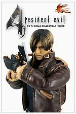 SHIP FROM USA! Hot Heart Resident Evil Leon 1/6 Action Figure Leather Jacket Ver