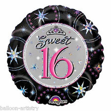 "18"" Round Sweet 16 Prismatic Foil Balloon Birthday 16th"