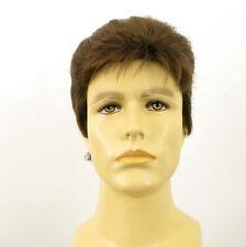 Perruque homme 100% cheveux naturel châtain clair ref DYLAN 8