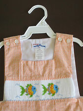 Vive la Fete boy Smocked Jon Jon 12mths Fishes WOW Sale NWT!
