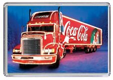 Christmas Soft Drinks Red Lorry Fridge Magnet 01