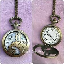 Collana orologio Jack Skeletron Sally NIGHTMARE BEFORE CHRISTMAS love idea regal