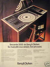 PUBLICITÉ 1981 BANG & OLUFSEN BEOCENTER 2000 - ADVERTISING