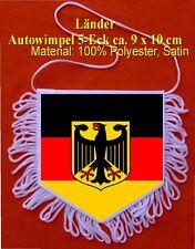 2-seitigerFahnen 5 Eck WimpelDeutschland mit Adler Auto Caravan Truck Boot Bus