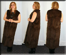 New Sleeveless Brown Rabbit Fur Coat Fur Lining Fur Liner - Size Small 4 6 S
