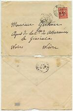 NEW CALEDONIA FRENCH P.O 1909 BIRD 10c FRANKING