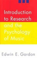 Introduction to Research and the Psychology of Music