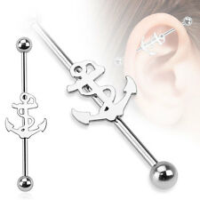 New Novelty Surgical Steel Sailor Ships Anchor Industrial Scaffold Piercing Bar
