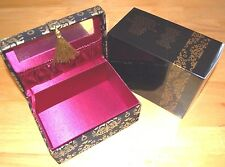 Avon Luxe Jewellery Box Lightweight Gold Black Glittery Mothers Birthday Gift