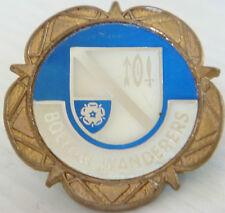BOLTON WANDERERS Vintage 1970s insert type badge Brooch pin In gilt 31mm 31mm