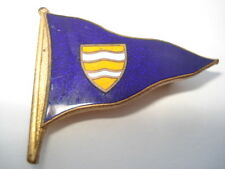 C1950S VINTAGE LEE STORT&CO CRUISING CLUB YACHT CLUB BURGEE/FLAG ENAMEL BADGE