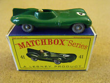 VINTAGE LESNEY MATCHBOX # 41B D-TYPE JAGUAR ORIGINAL BOX